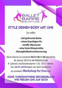 Ballet Barre Bodystyling Flyer